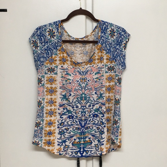 Lucky Brand Tops - Lucky Brand Colorful Boho Tee Size M